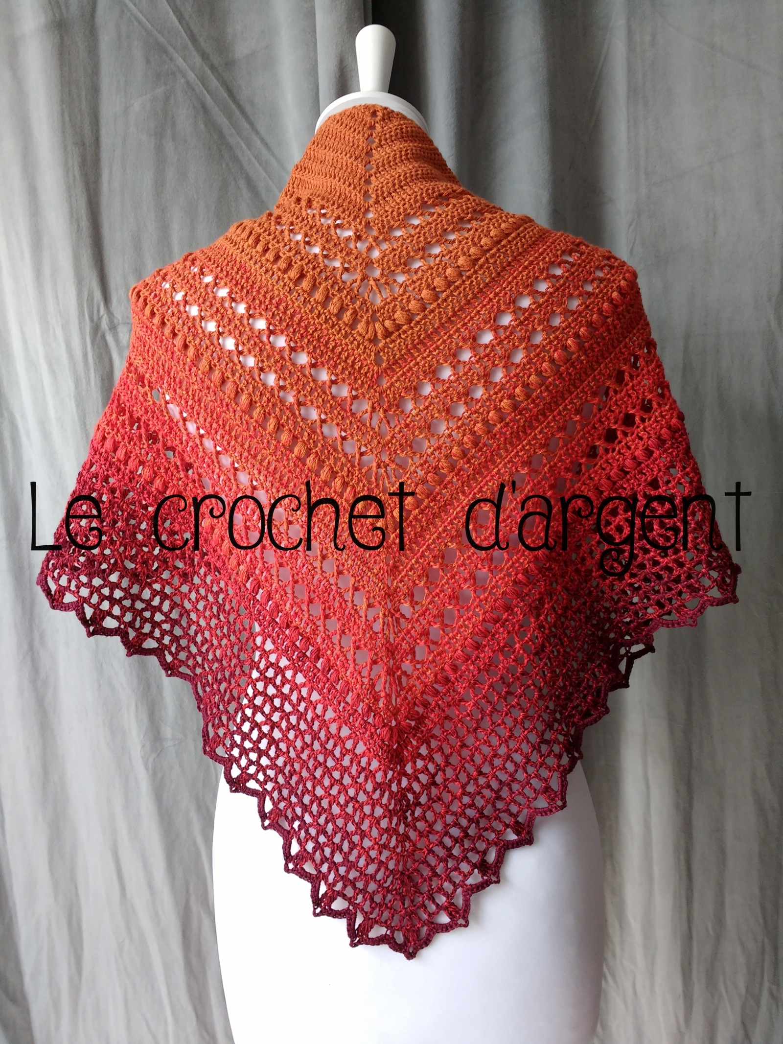 Free tutorial of crochet summer shawl, summer in Sevilla